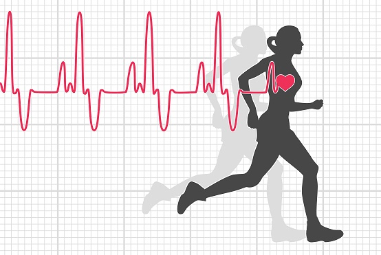 Zone heartbeat with exercise